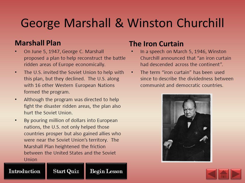 George Marshall & Winston Churchill