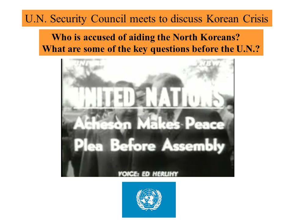 U.N. Security Council meets to discuss Korean Crisis