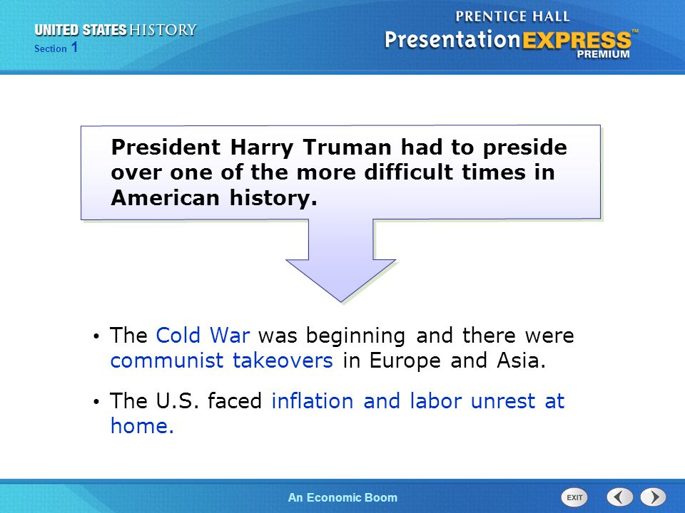 The U.S. faced inflation and labor unrest at home.