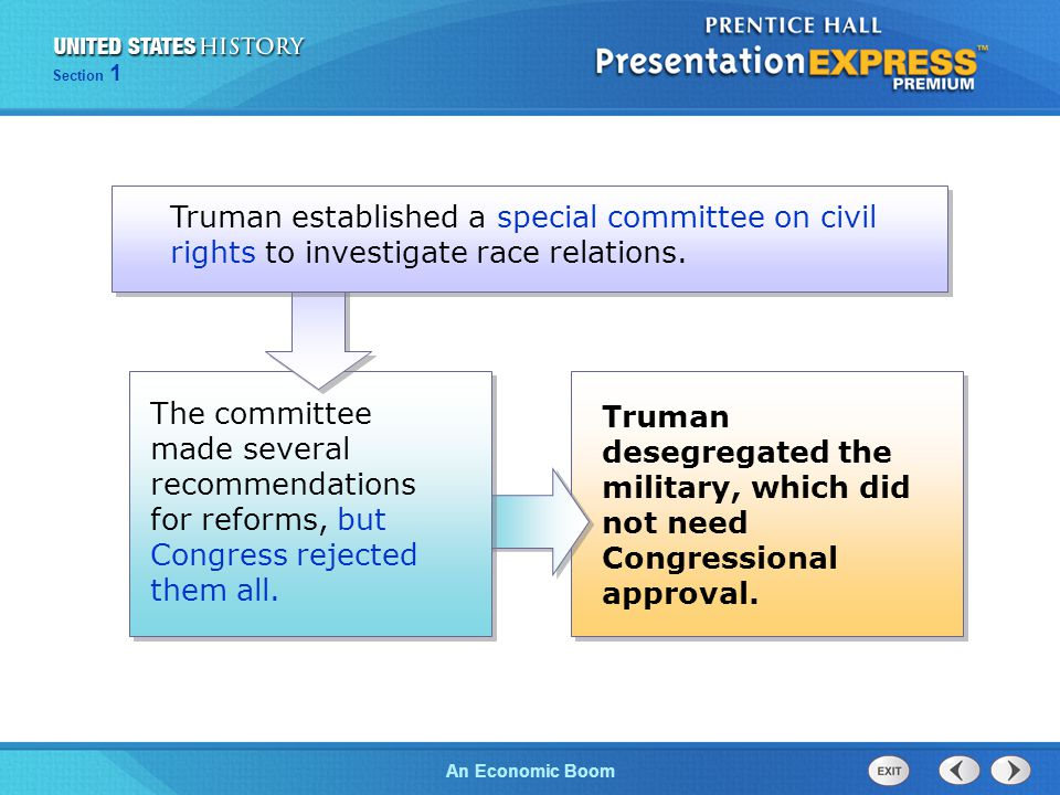 Truman established a special committee on civil rights to investigate race relations.