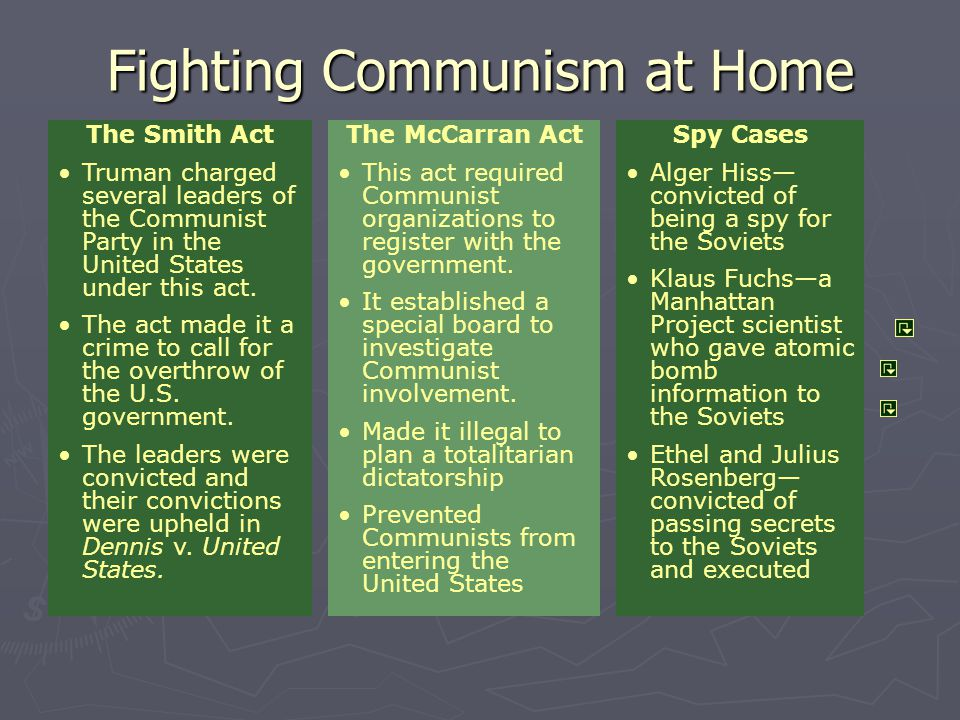 Fighting Communism at Home