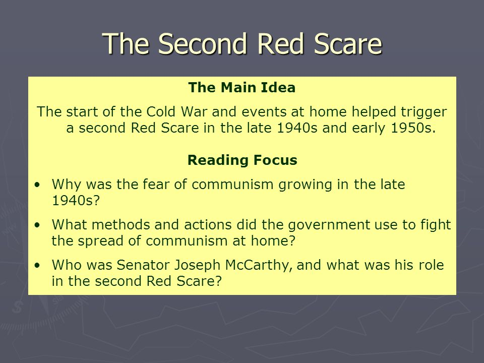 The Second Red Scare The Main Idea
