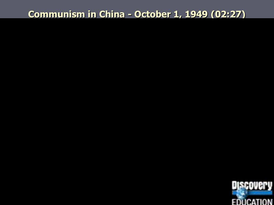 Communism in China - October 1, 1949 (02:27)