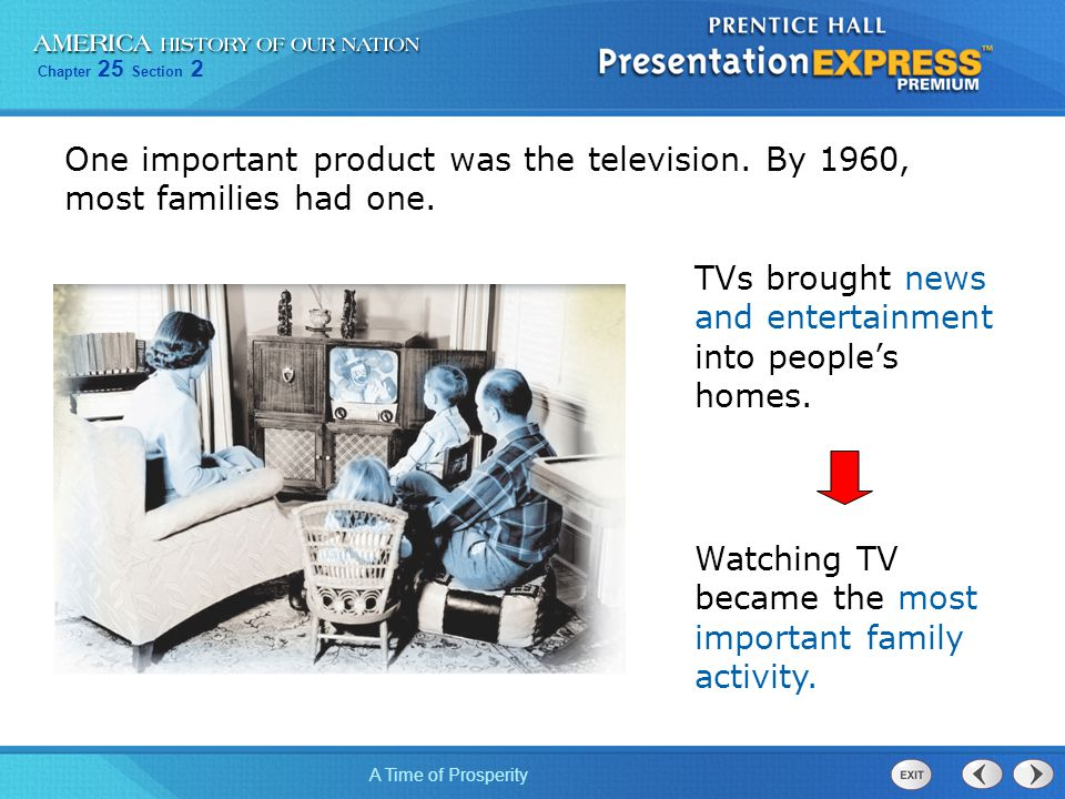 One important product was the television