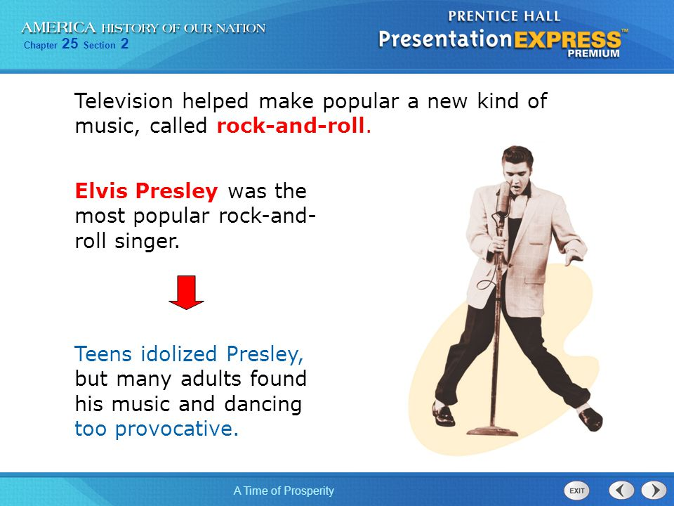 Television helped make popular a new kind of music, called rock-and-roll.