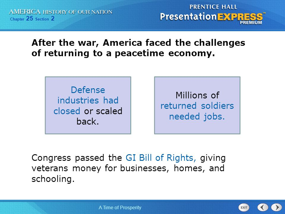 Defense industries had closed or scaled back.