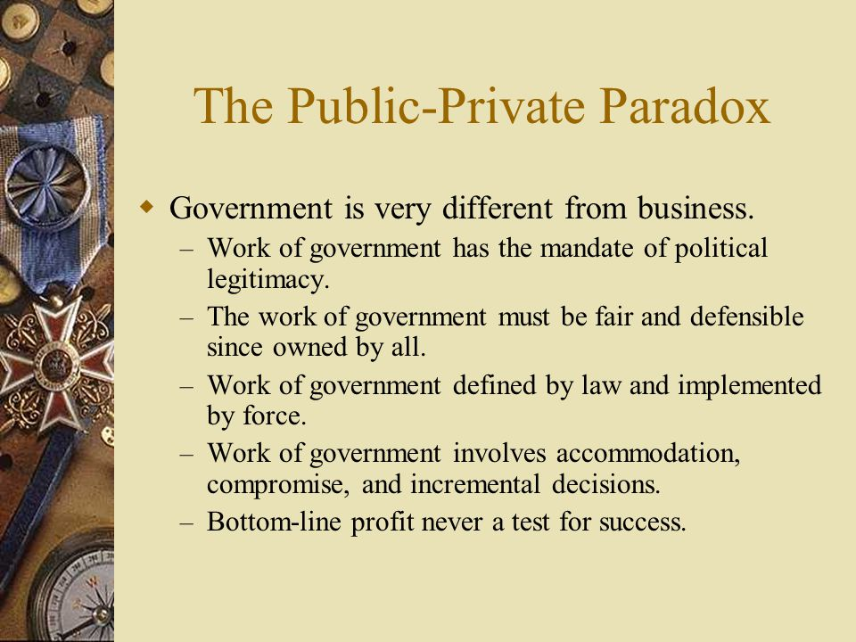 The Public-Private Paradox