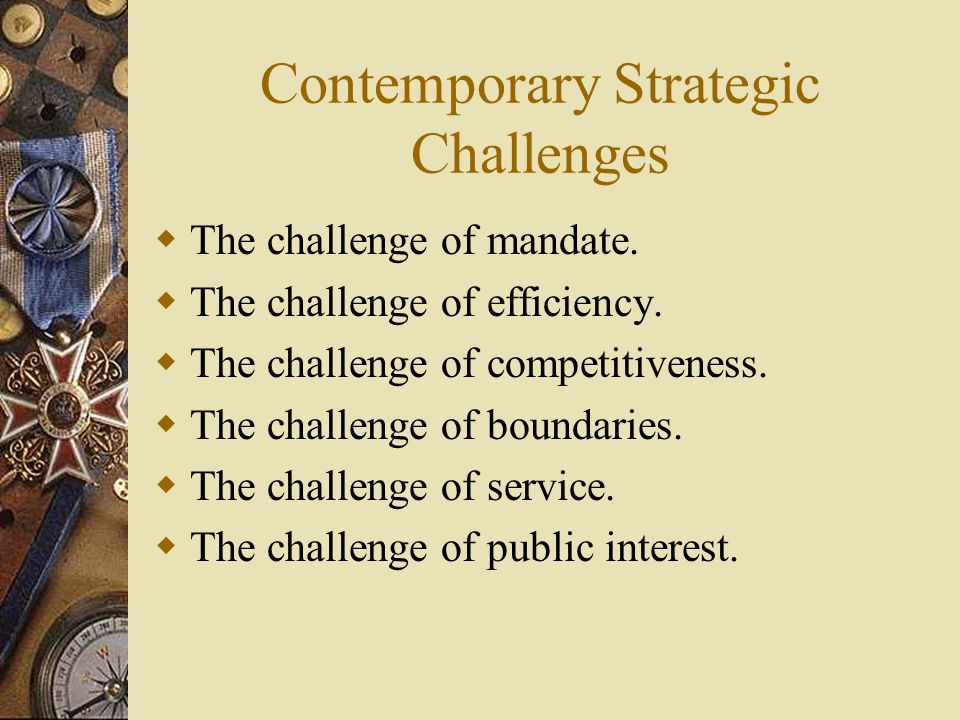 Contemporary Strategic Challenges