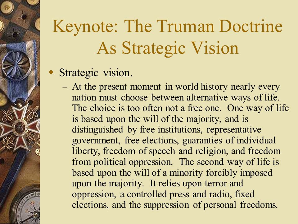 Keynote: The Truman Doctrine As Strategic Vision