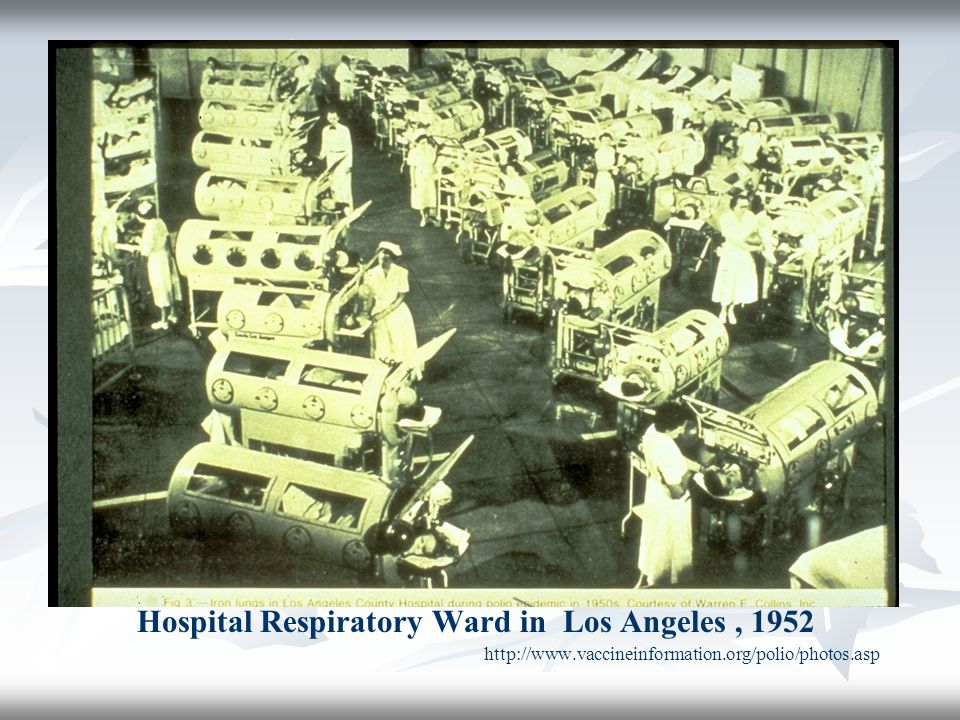 Hospital Respiratory Ward in Los Angeles , 1952