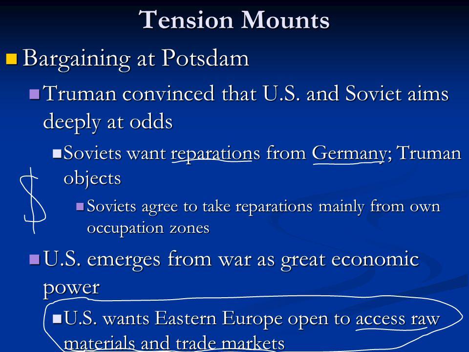 Tension Mounts Bargaining at Potsdam