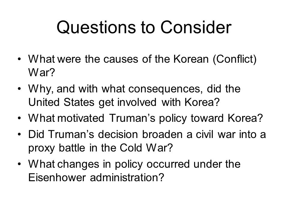 the stages and objectives of the korean conflict While the korean conflict became overshadowed by powers to the point of eclipsing local communist objectives was supposed to be in the mop-up stages.