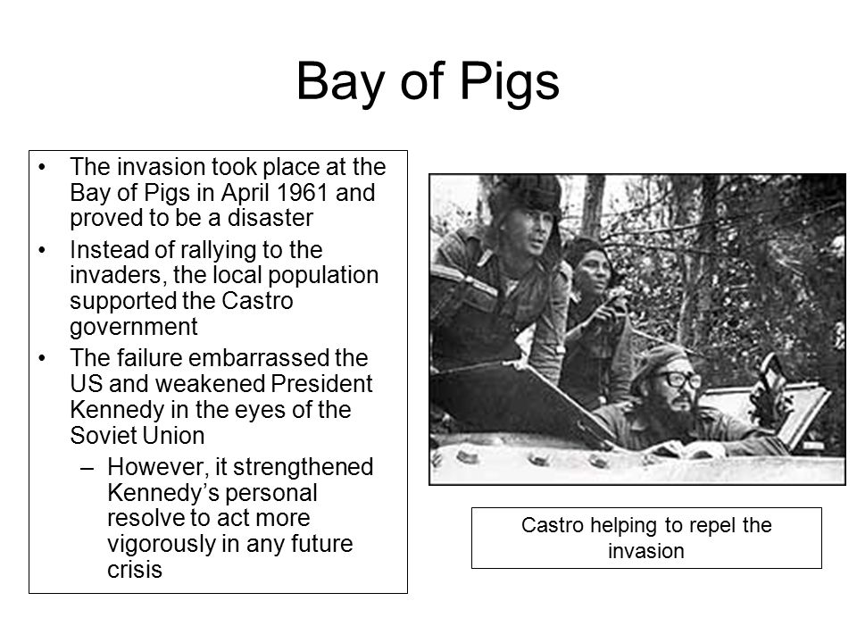Castro helping to repel the invasion