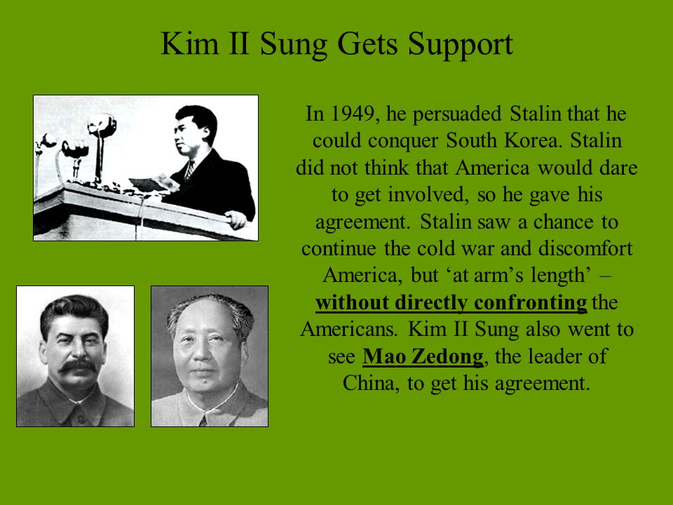 Kim II Sung Gets Support