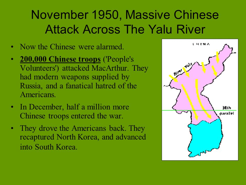 November 1950, Massive Chinese Attack Across The Yalu River