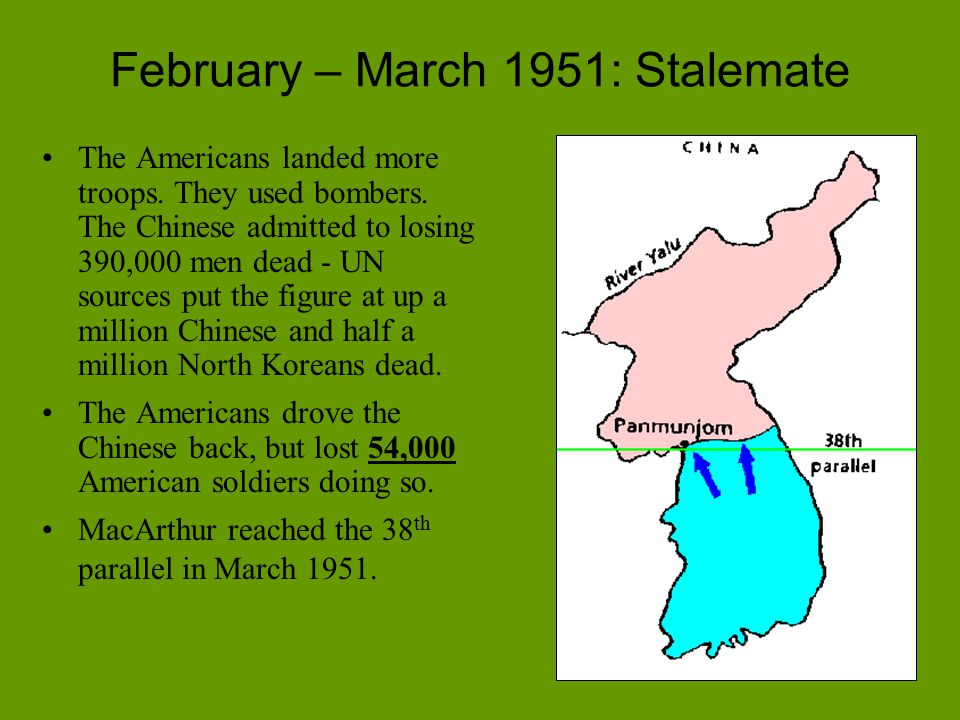 February – March 1951: Stalemate