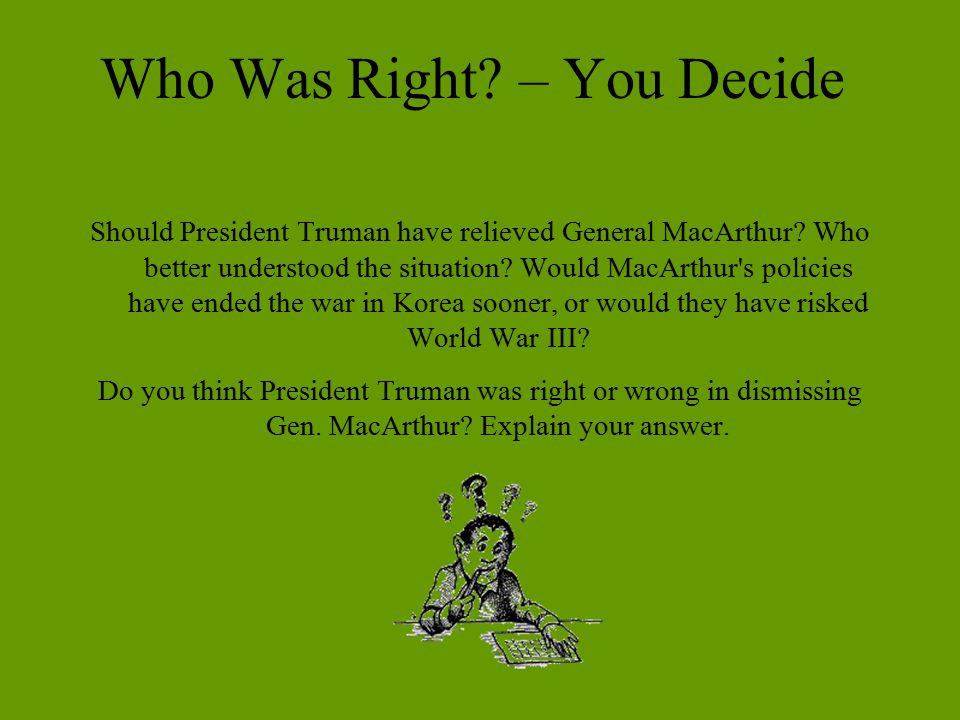 Who Was Right – You Decide