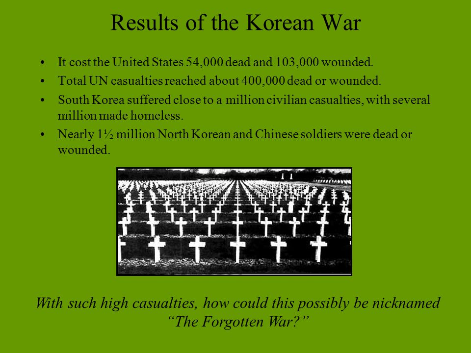 Results of the Korean War