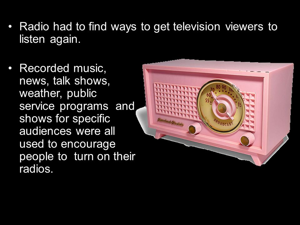 Radio had to find ways to get television viewers to listen again.