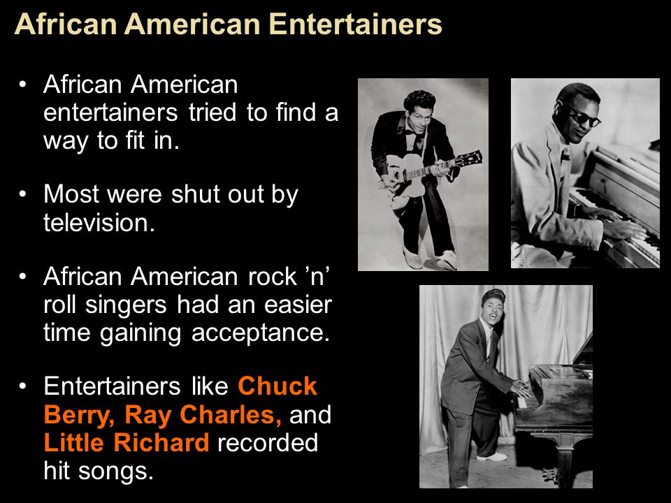 African American Entertainers