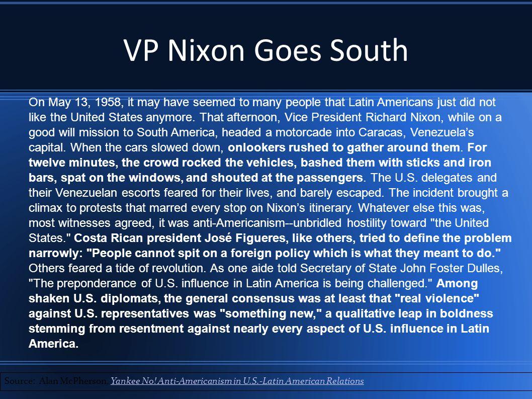 VP Nixon Goes South