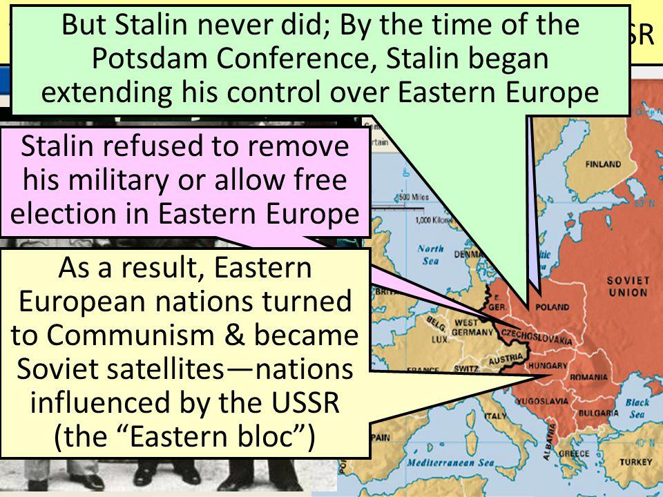 WWII increased hostilities between USA & USSR