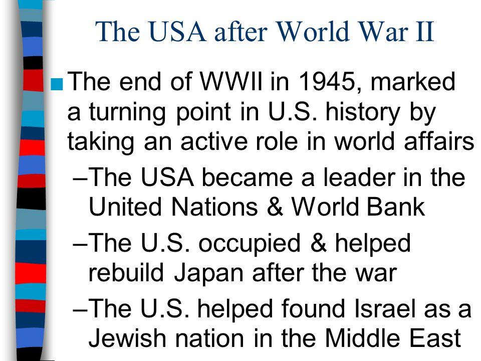 The USA after World War II