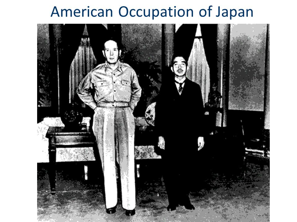 American Occupation of Japan
