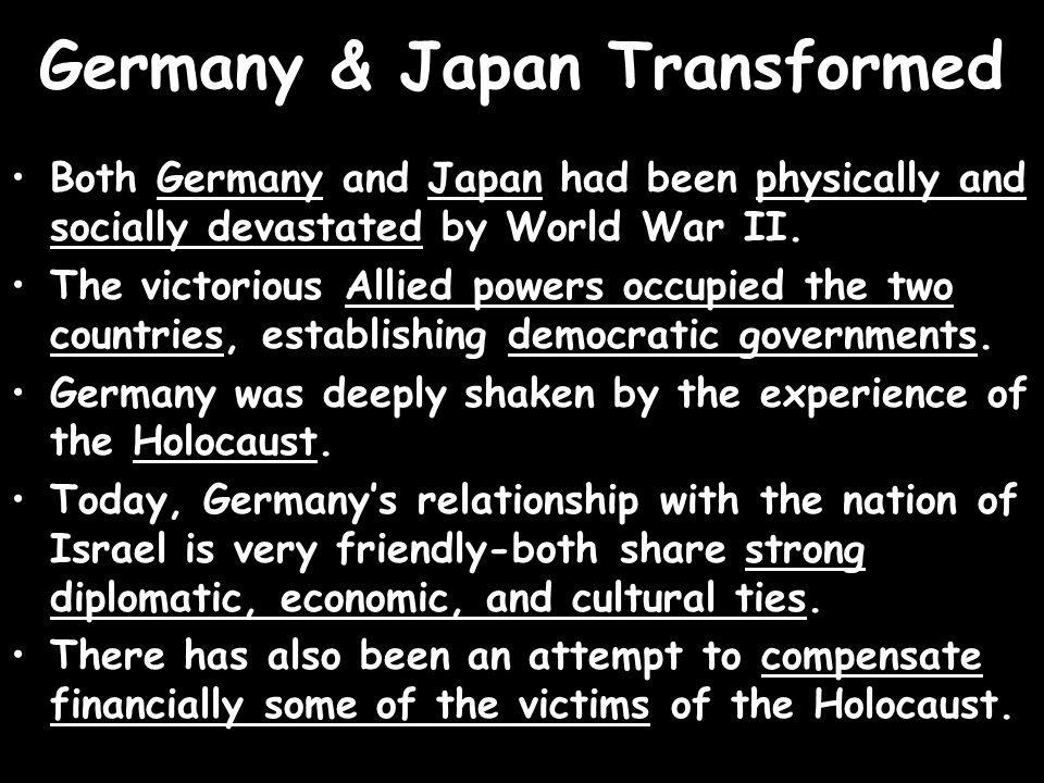 Germany & Japan Transformed