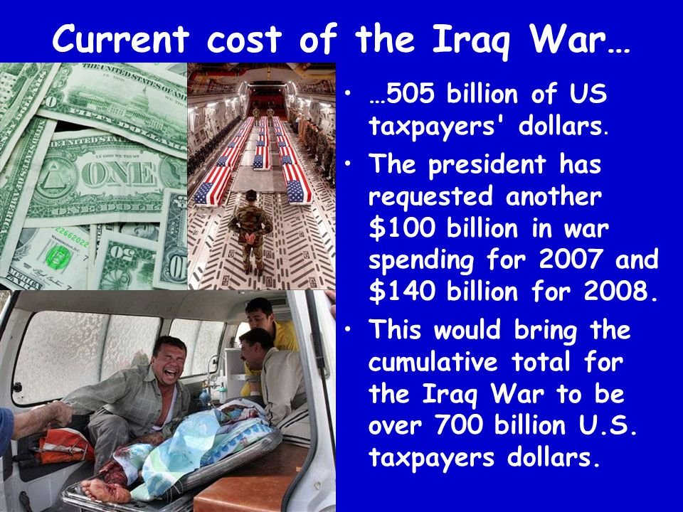 Current cost of the Iraq War…