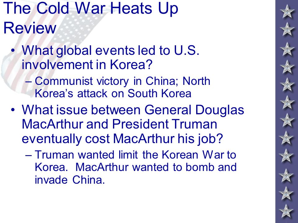 The Cold War Heats Up Review