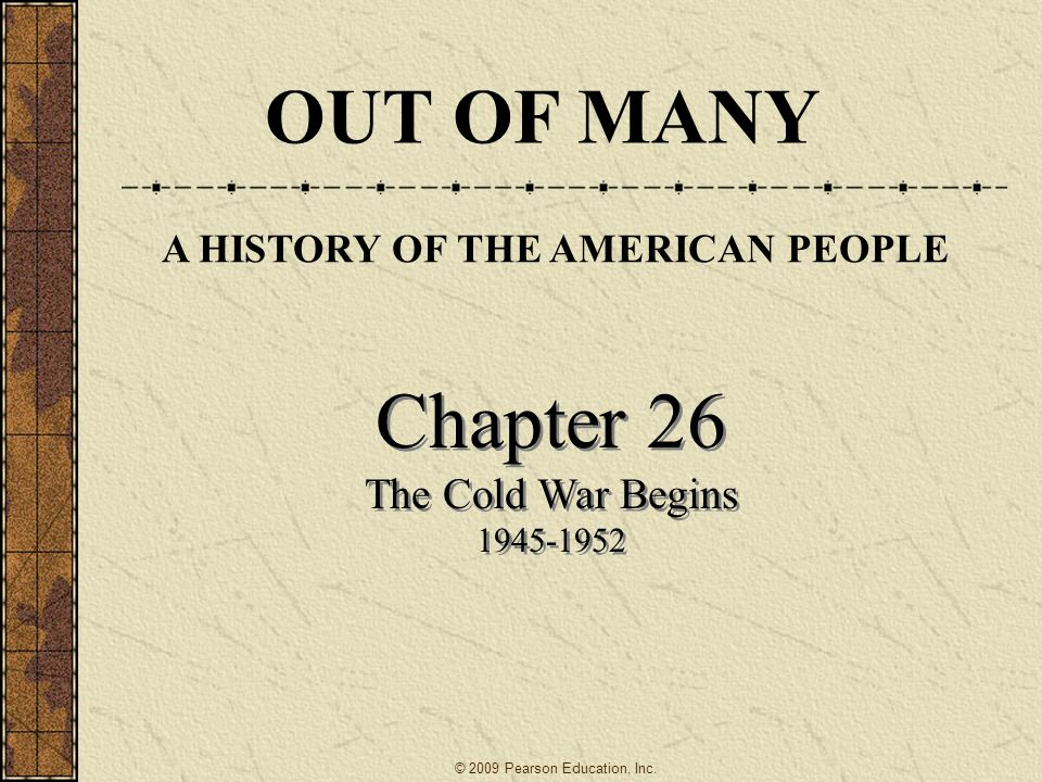 Chapter 17 the Cold War Begins Essay
