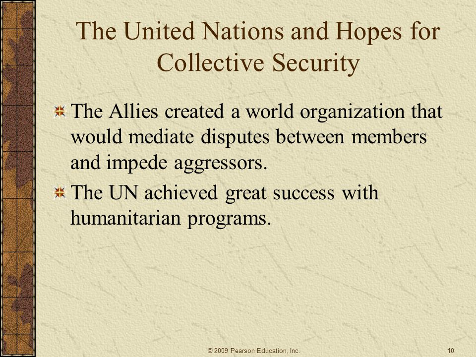 The United Nations and Hopes for Collective Security
