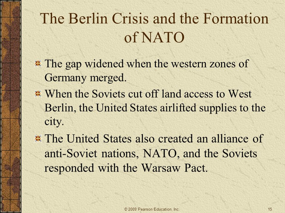 The Berlin Crisis and the Formation of NATO