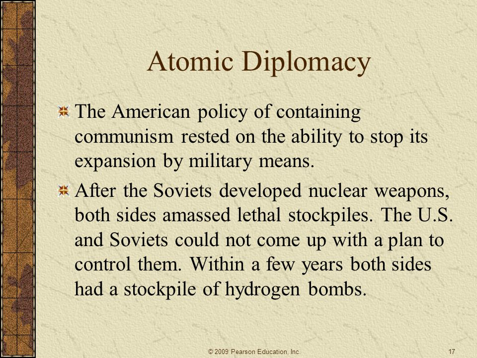 an analysis of the nuclear diplomacy and arms control Arms control is a term for the use of diplomacy which seeks to impose such arms and offer research and analysis about us nuclear.