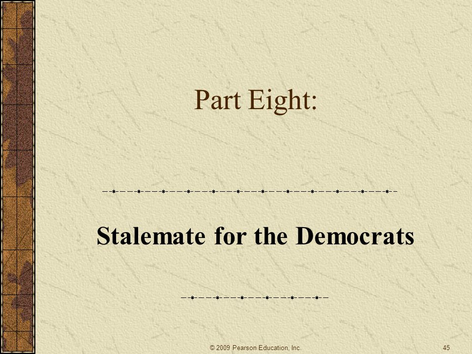 Stalemate for the Democrats