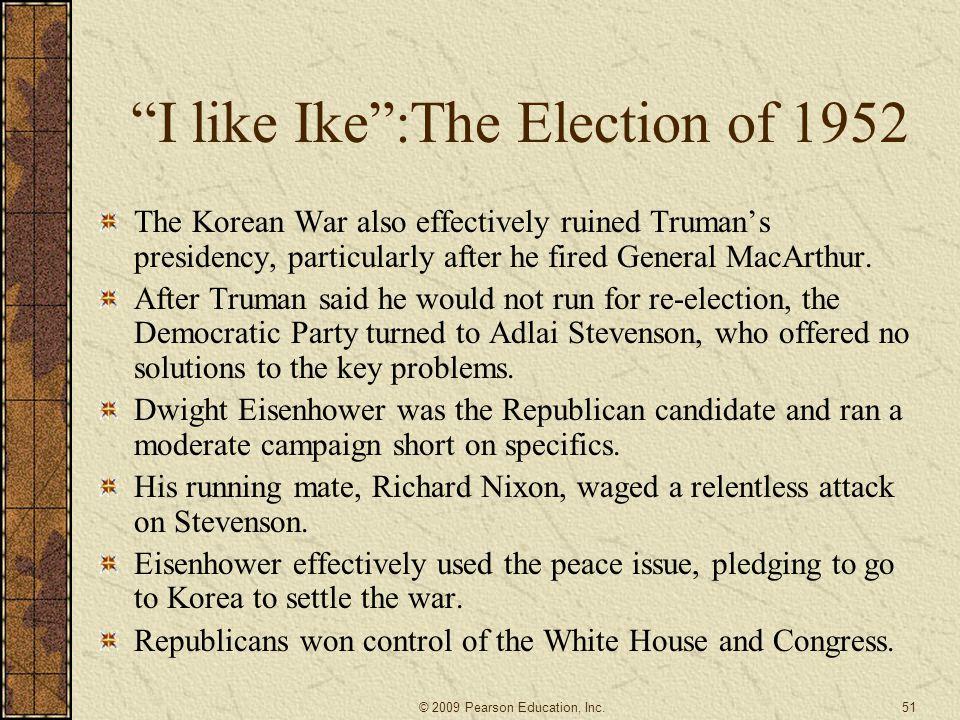 I like Ike :The Election of 1952