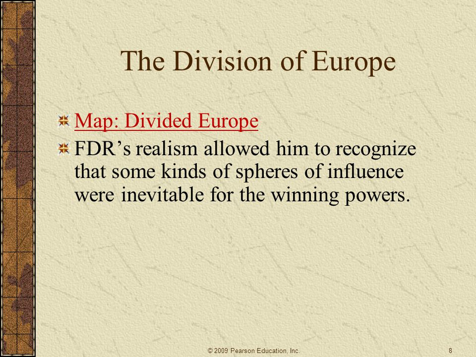 The Division of Europe Map: Divided Europe