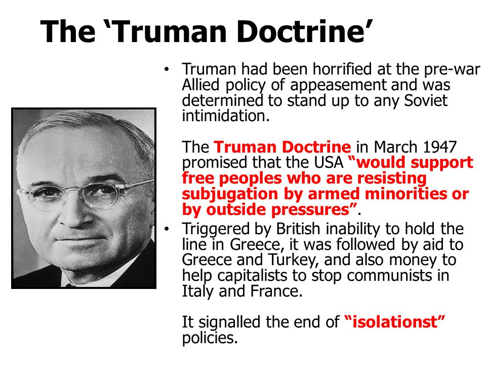 The 'Truman Doctrine'