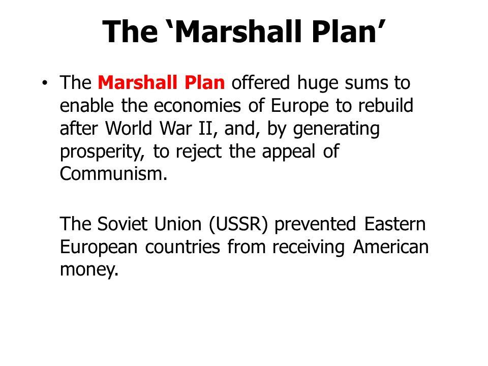 The 'Marshall Plan'