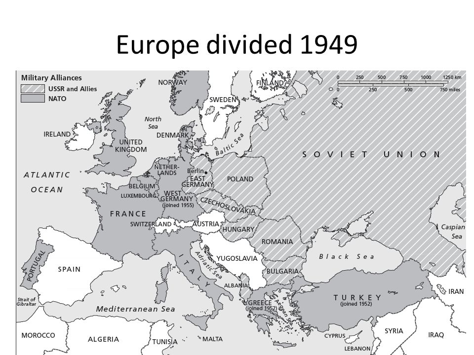 Europe divided 1949