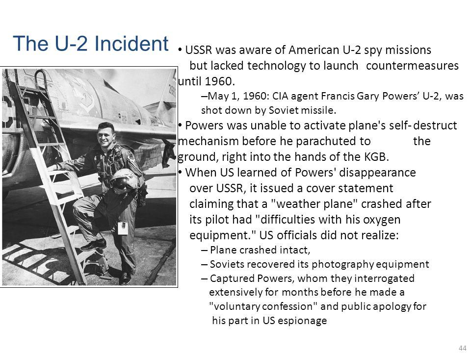 USSR was aware of American U-2 spy missions