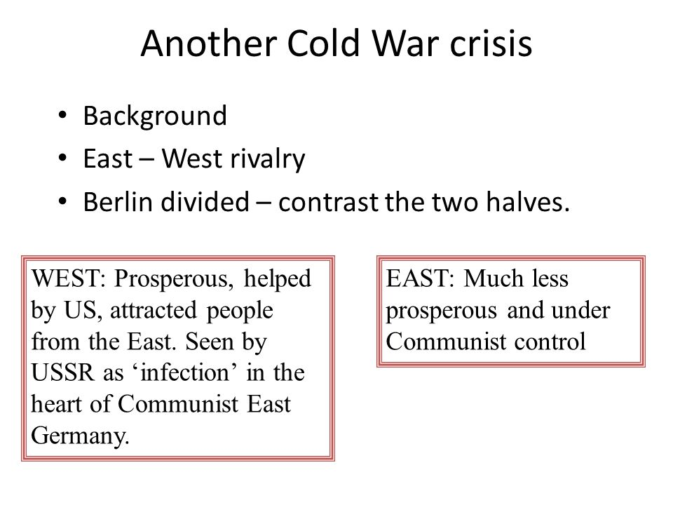 Another Cold War crisis