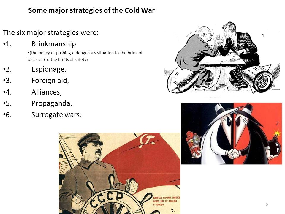Some major strategies of the Cold War