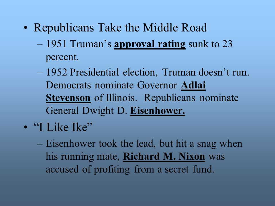 Republicans Take the Middle Road