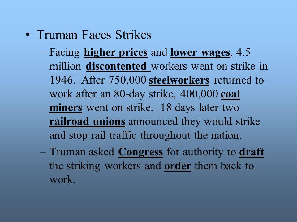 Truman Faces Strikes