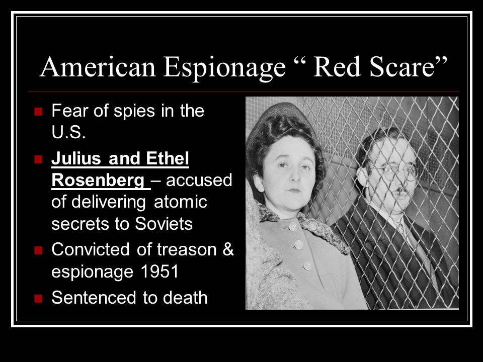 American Espionage Red Scare