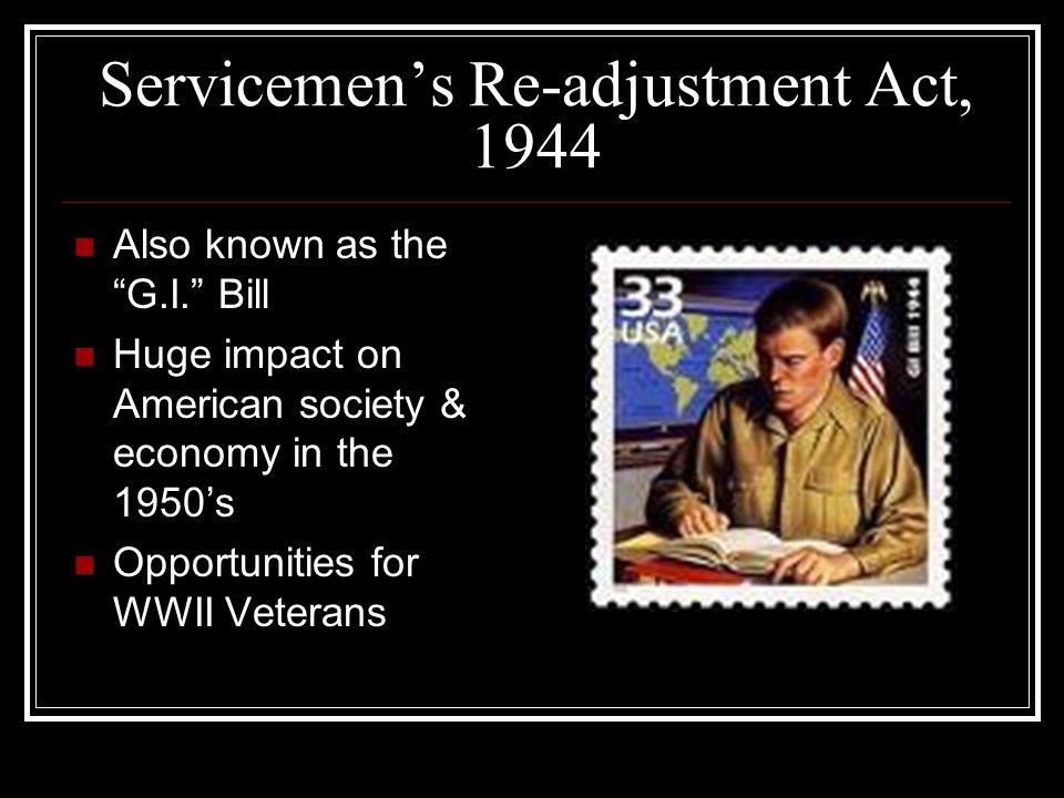 Servicemen's Re-adjustment Act, 1944