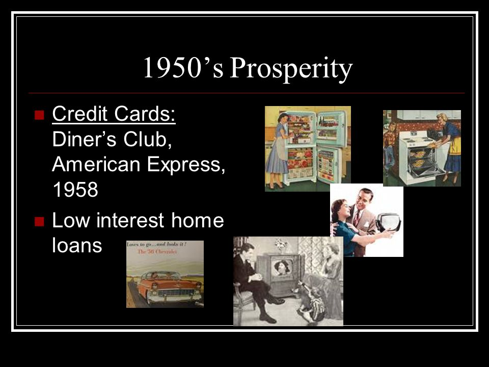 1950's Prosperity Credit Cards: Diner's Club, American Express, 1958