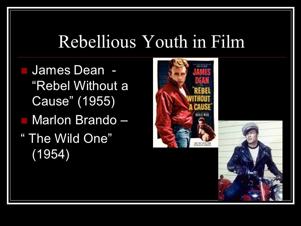 Rebellious Youth in Film